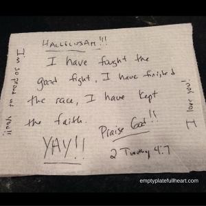 scripture napkin