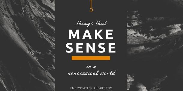 Things That Make Sense
